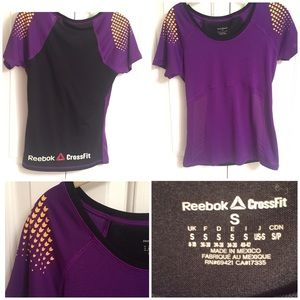 Reebok CrossFit purple shirt sleeve top Small